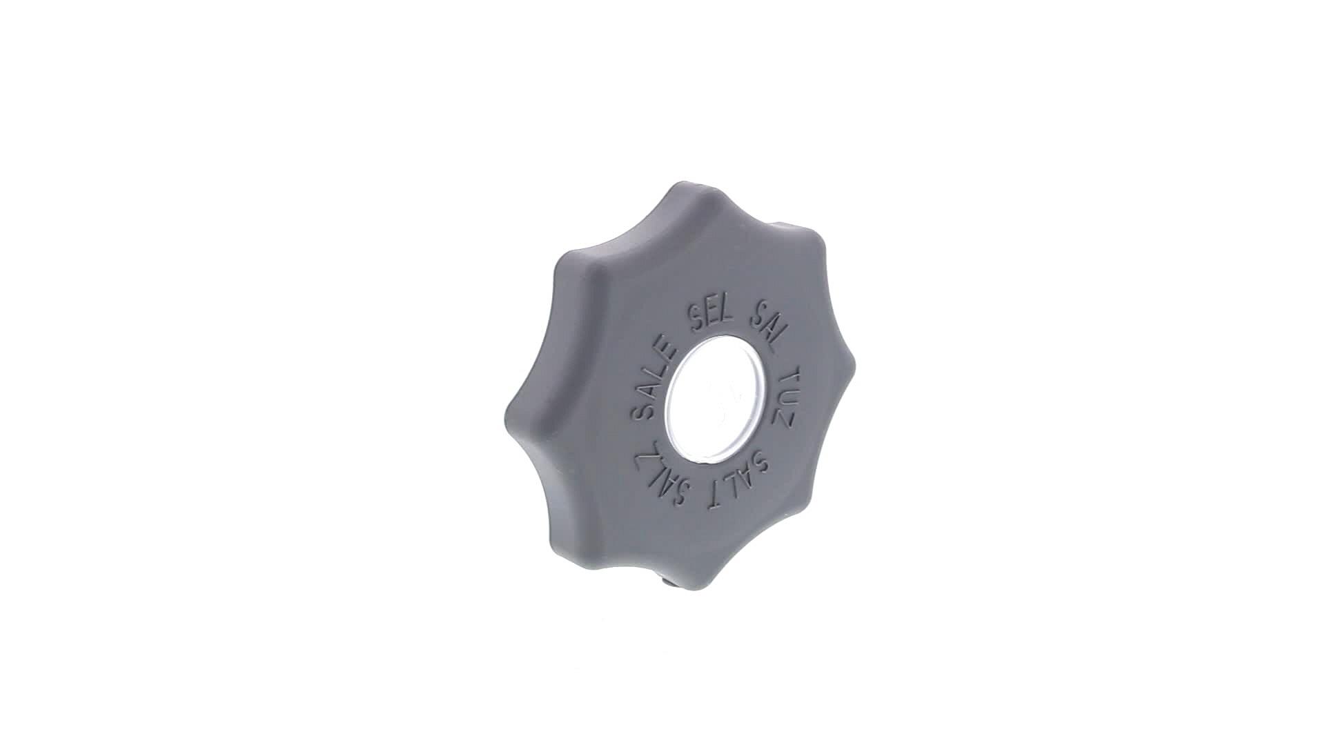 BOUCHON LAVE-VAISSELLE BAC A SEL 84mm GRIS FONCE