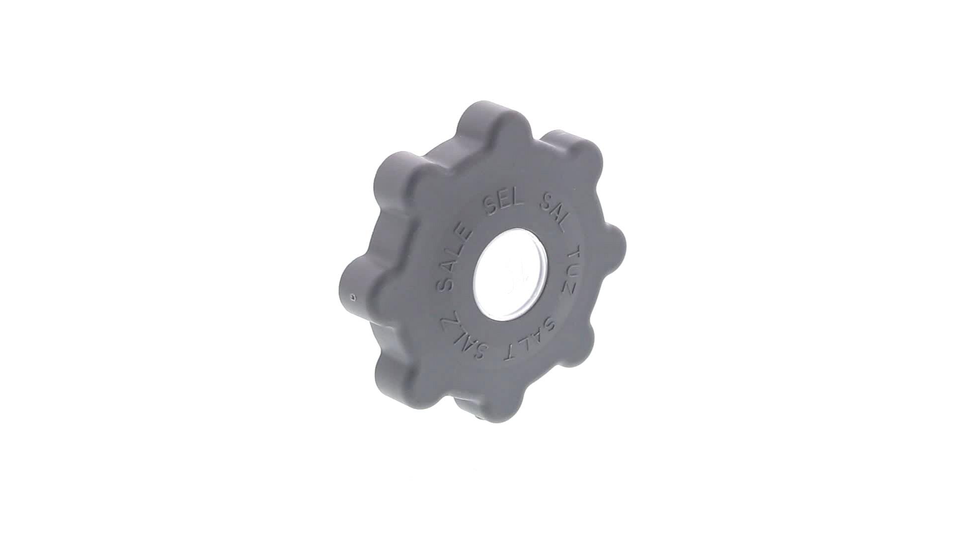 BOUCHON LAVE-VAISSELLE BAC SEL 90mm GRIS FONCE