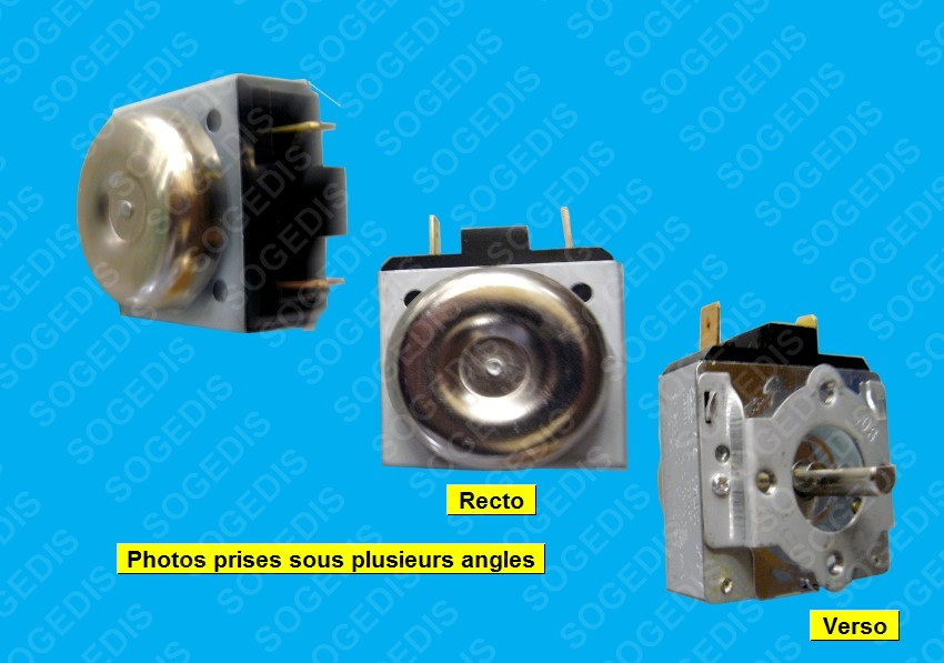 MINUTERIE CUISINIÈRE DKJ-Y  E170939 90' AXE LG 20.24 (AXE 4.41mm avec le méplat)