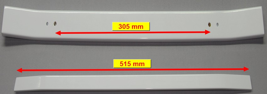 POIGNEE CUISINIÈRE PORTE FOUR BLANC 515mm entraxe:305mm