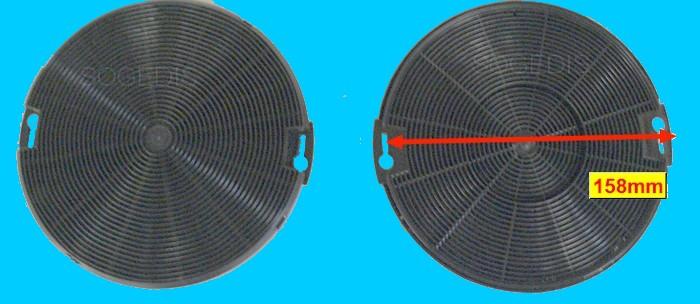 FILTRE Hotte CHARBON 150mm (lot de 2) EP=15mm