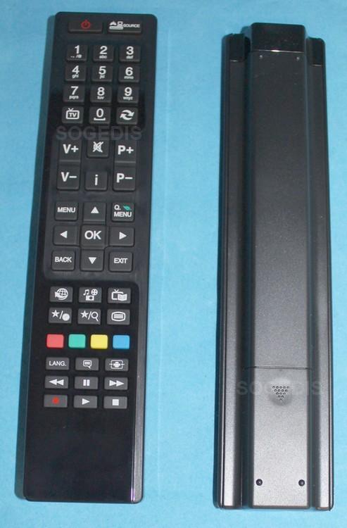 TELECOMMANDE TV RC4800 noire remplacée par blanche