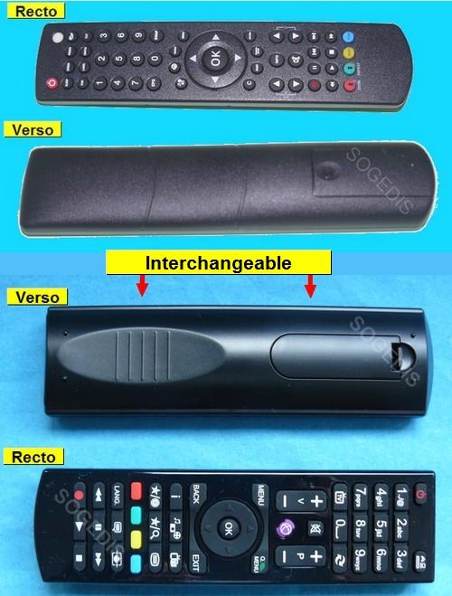 TELECOMMANDE TV RC4870 TV UNIQUEMENT