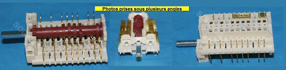 COMMUTATEUR CUISINIÈRE 11HE-242 P-0916 4891/1 W4 3