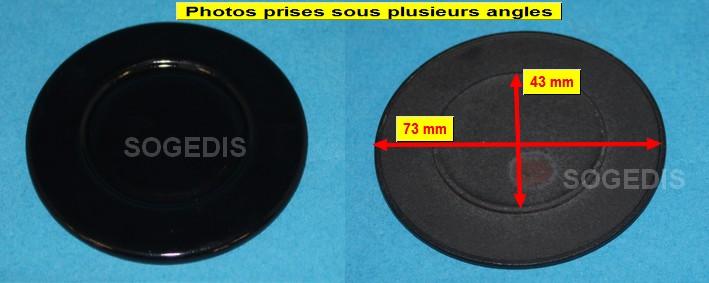 CHAPEAU CUISINIÈRE BRULEUR SEMI-RAPIDE D=73mm