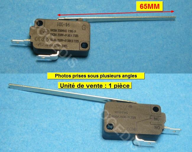 INTERRUPTEUR SÈCHE-LINGE HK-14 GAUCHE 2 COSSES + 1 LAMELLE