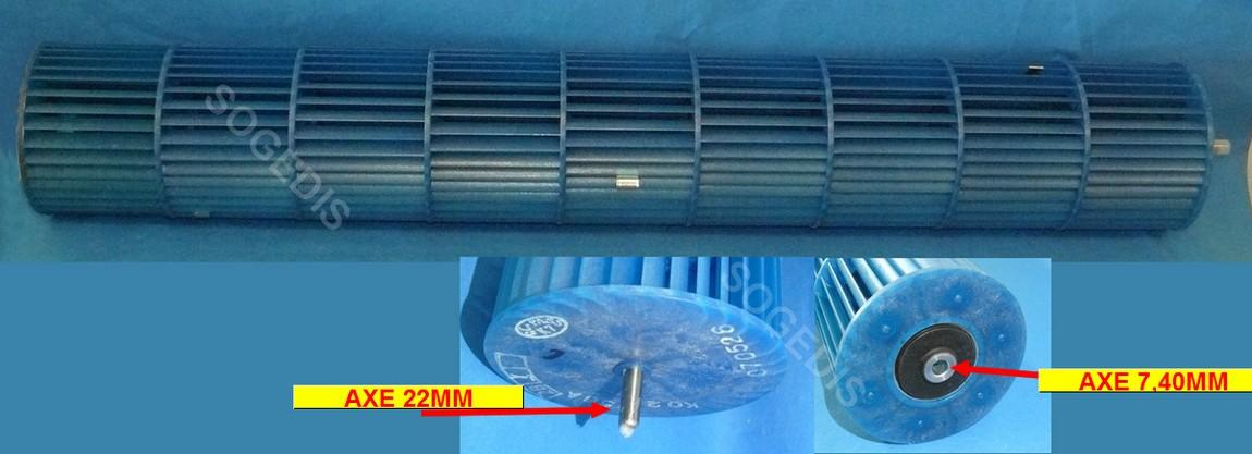 TURBINE Climatiseur IntÉrieure 616MM D92MM K02 256A 070526