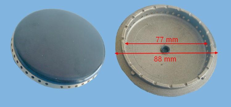 CHAPEAU CUISINIÈRE COURONNE RAPIDE D=88mm