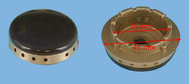 CHAPEAU CUISINIÈRE COURONNE AUXILIAIRE D=46mm