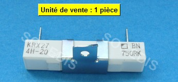 RESISTANCE  FOUR CERAMIQUE VTR KRX27 4H-20 BN 750RK  110°C
