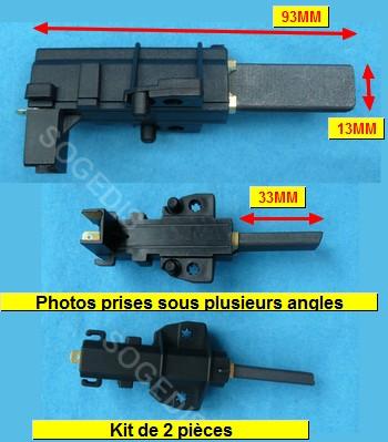 CHARBON LAVE-LINGE MOTEUR (kit de 2) COSSE 4.8MM