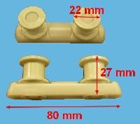 Miniature ROUE LAVE-VAISSELLE RAIL SUR CUVE BLANC
