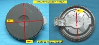 Miniature PLAQUE PLAQUE ELECTRIQUE 180mm 2000w 8mm