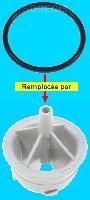 Miniature JOINT Lave-Vaisselle DOUILLE SUPPORT BRAS SupÉrieur remplace par DOUILLE SANS JOINT