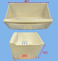 Miniature TIROIR Froid InfÉrieur BLANC FACADE TRANSPARENT 463*268*190 3390JQ1092