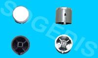 Miniature BOUTON LAVE-VAISSELLE POUSSOIR INOX =EPUISE