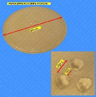 Miniature PLATEAU MICRO ONDE VERRE 345mm - 1