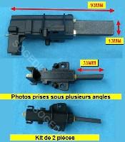 Miniature CHARBON LAVE-LINGE MOTEUR (kit de 2) COSSE 4.8MM