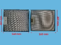 Miniature FILTRE Hotte METAL 305*268